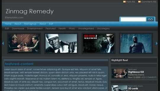 download template blogger for movie and music free