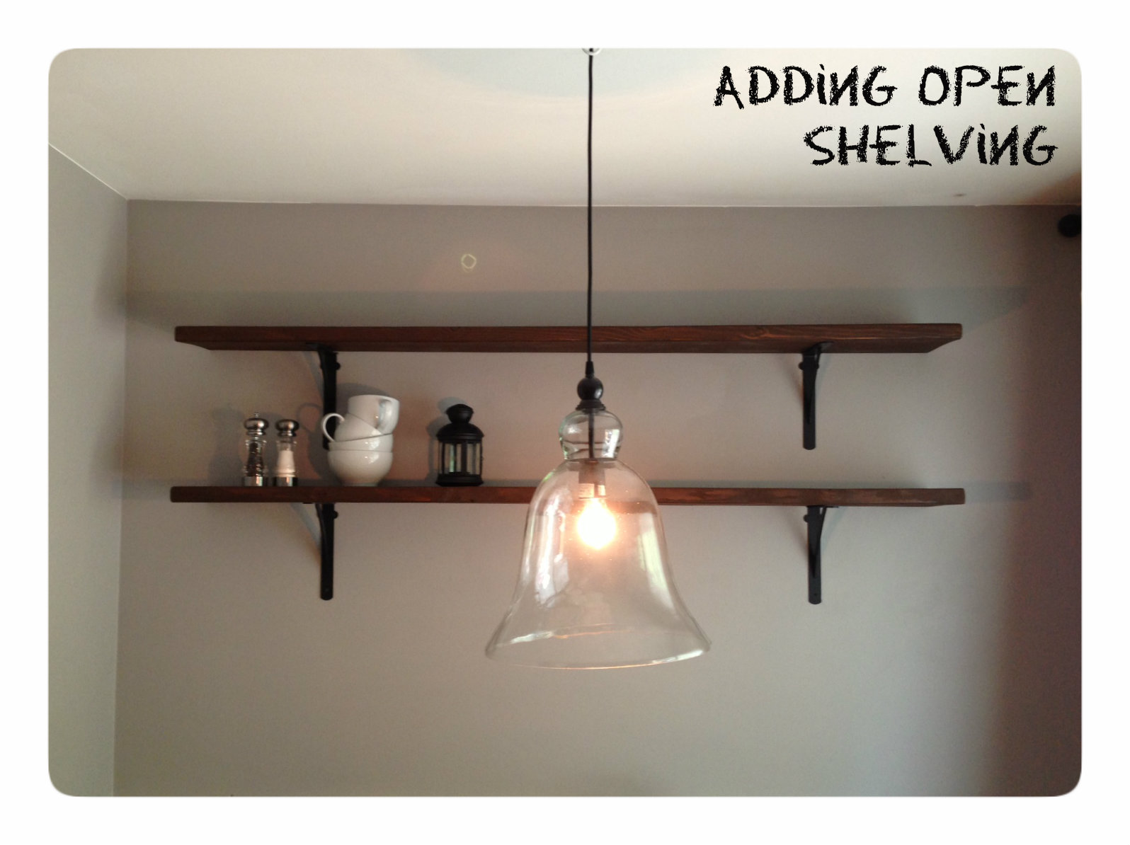 adding open shelving in the dining room