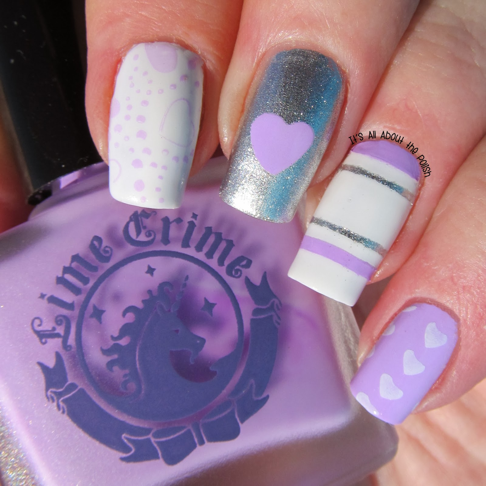 It\'s all about the polish: Valentine\'s Day nail design - Lime Crime ...