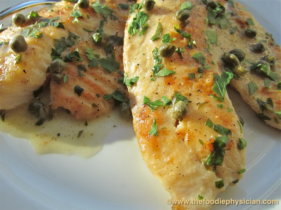The Foodie Physician: Dining with the Doc: Tilapia Piccata