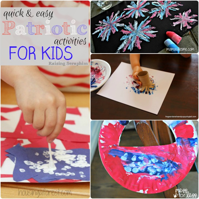 Patriotic activities for kids (especially littles) that are super simple. I have most of this stuff on hand. Great Ideas!