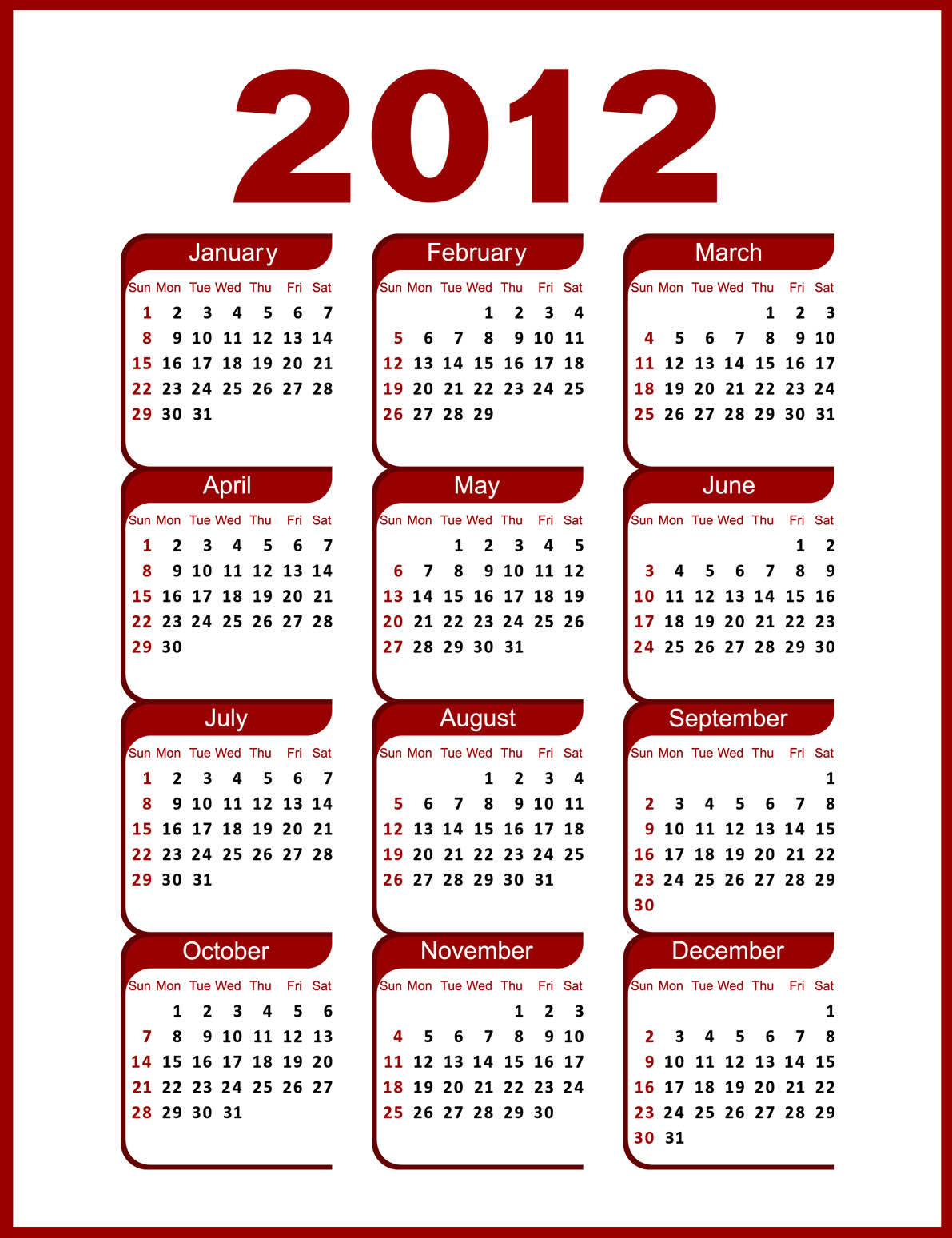 Calendar Monthly Meaning : The copyright year