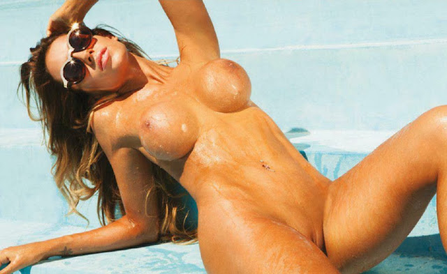 Leonela Ahumada naked pussy tits Playboy Argentina December 2013