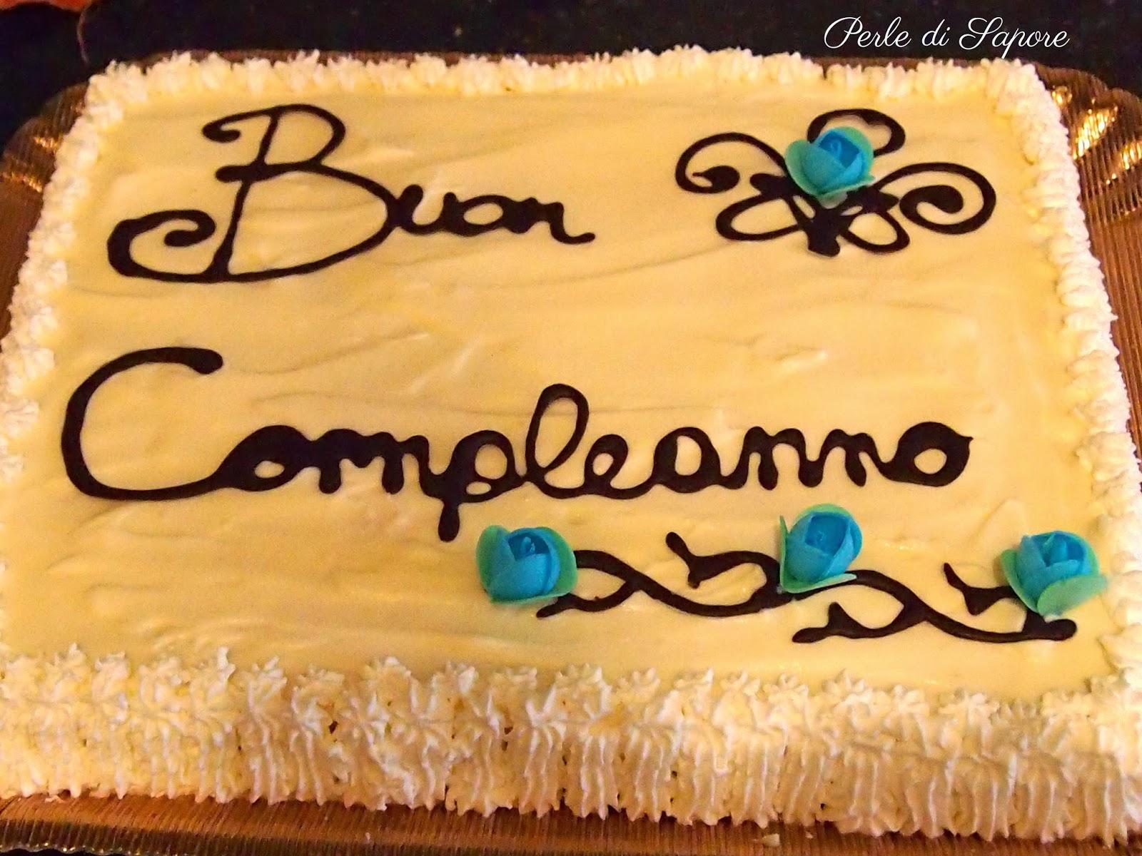 torta di compleanno alla doppia crema