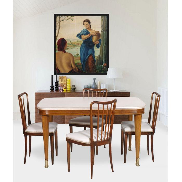 Mobili art deco atelier myartistic tavolo art dec con quattro sedie design table with chairs my48 - Deco mobili tavoli e sedie ...