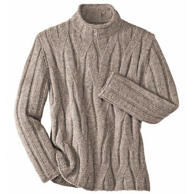 вязание спицами, мужской свитер