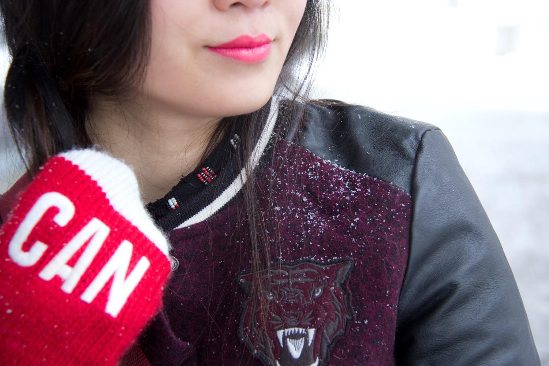 Go-Canada-Mittens, HM-Varsity-Jacket, Joe-Fresh-Lipstick