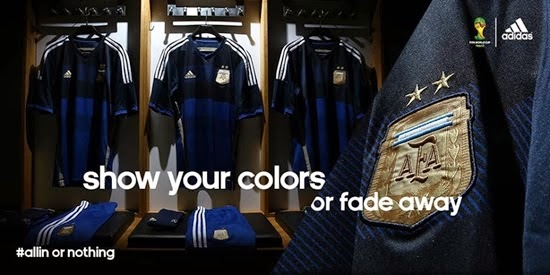 Detail jersey argentina away-world cup 2014