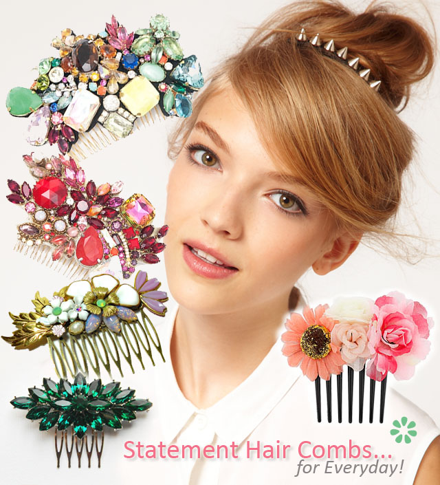 Statement Hair Combs, Hair Accessories