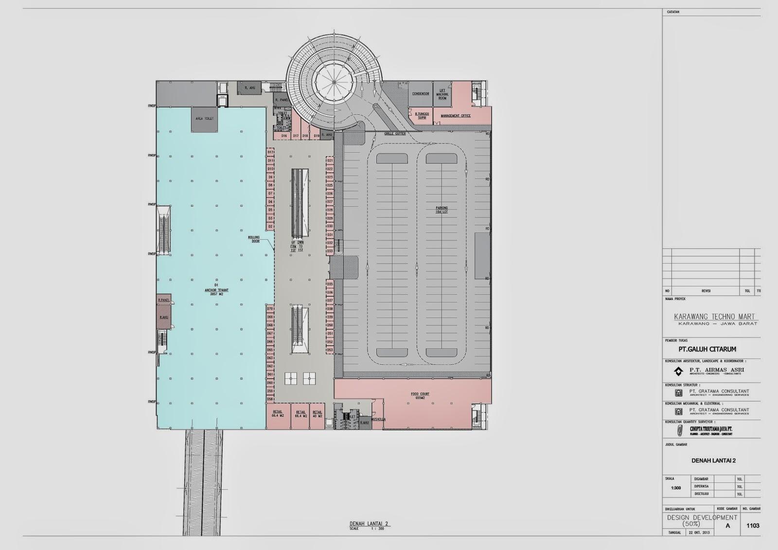 techno mart karawang denah lantai bangunan