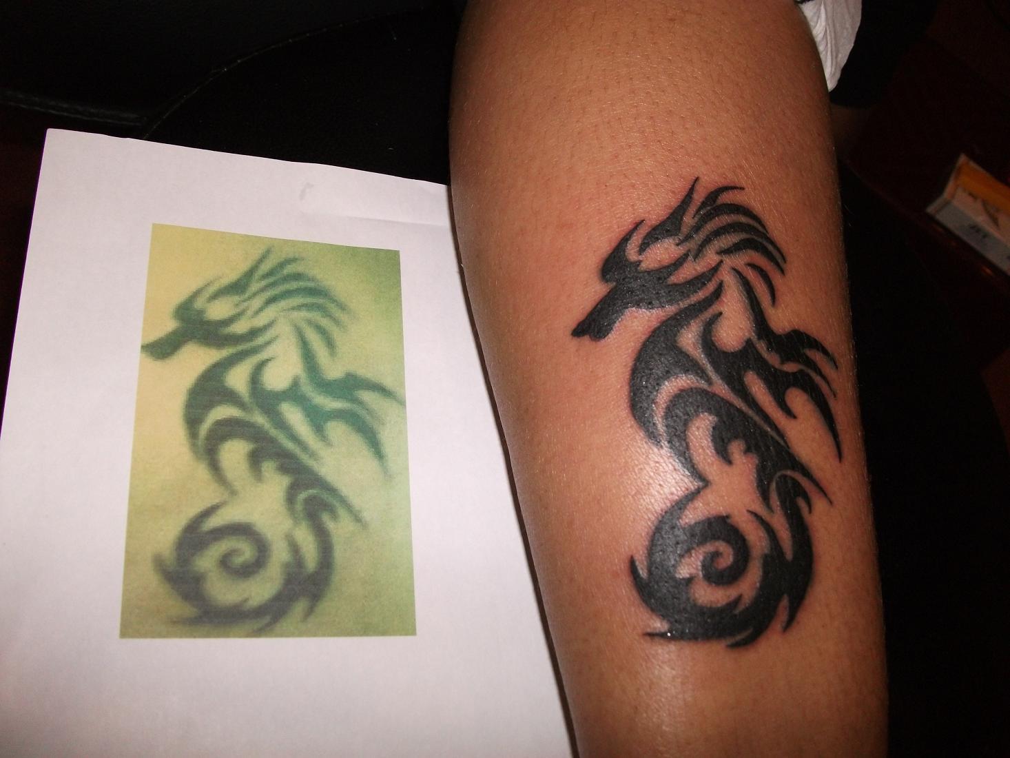 Seahorse Legs Tattoos