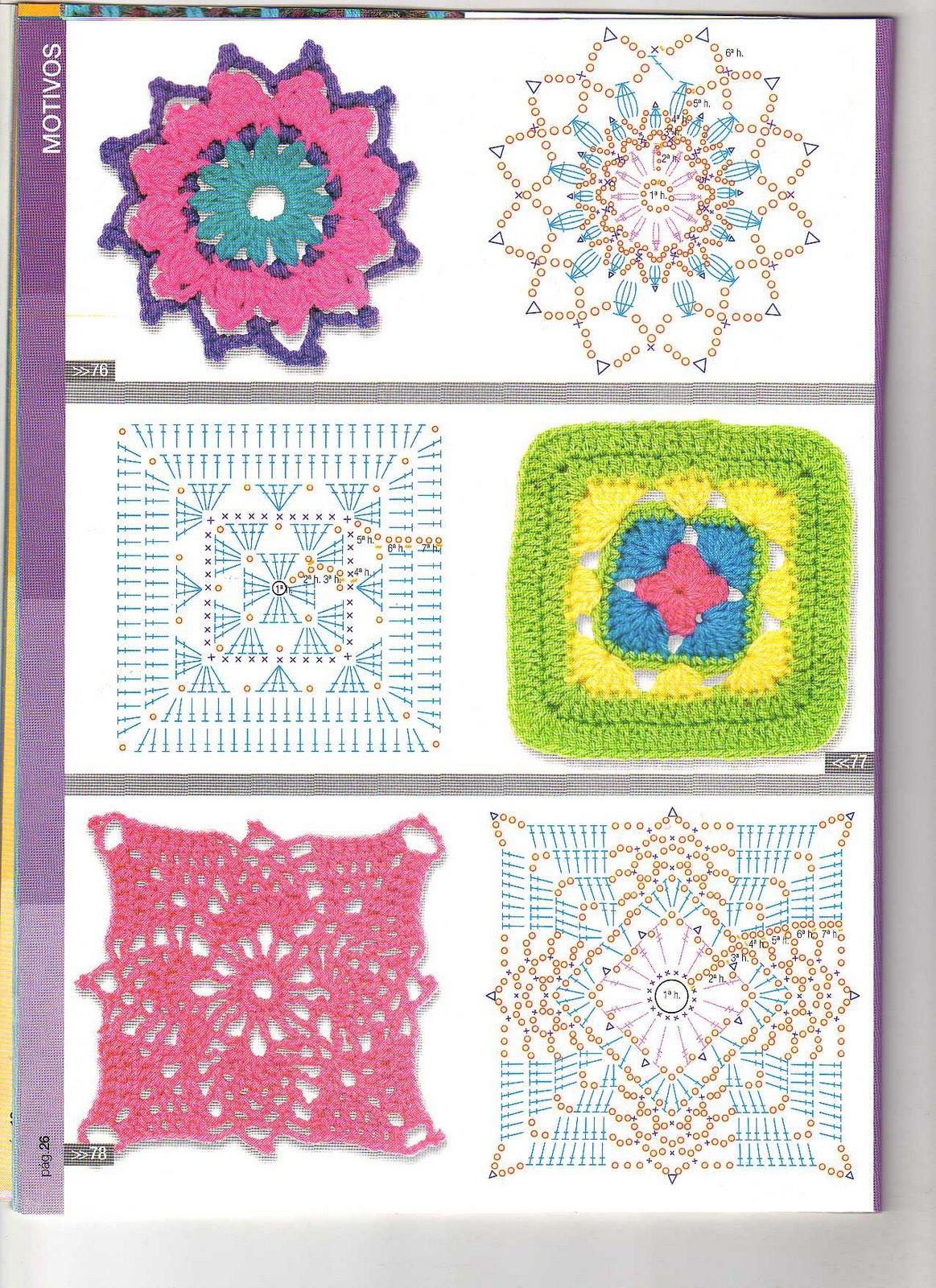 Cuadros a crochet con patrones gratis - Imagui
