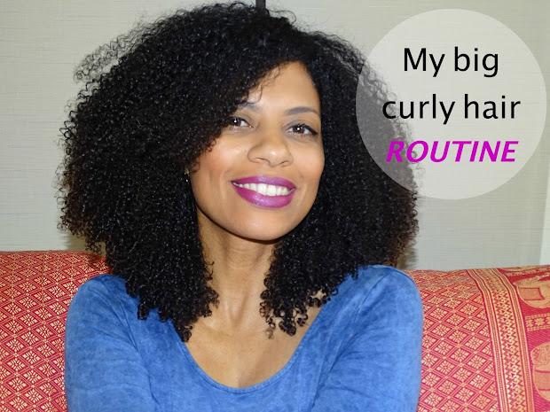 big curly hair routine- wash