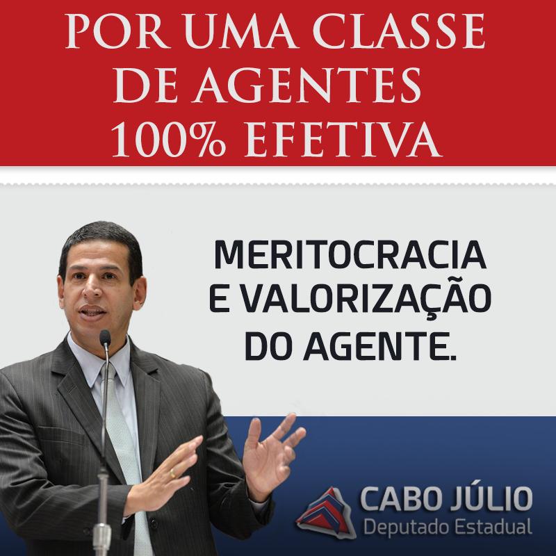 POR UMA CLASSE DE AGENTES 100% EFETIVA