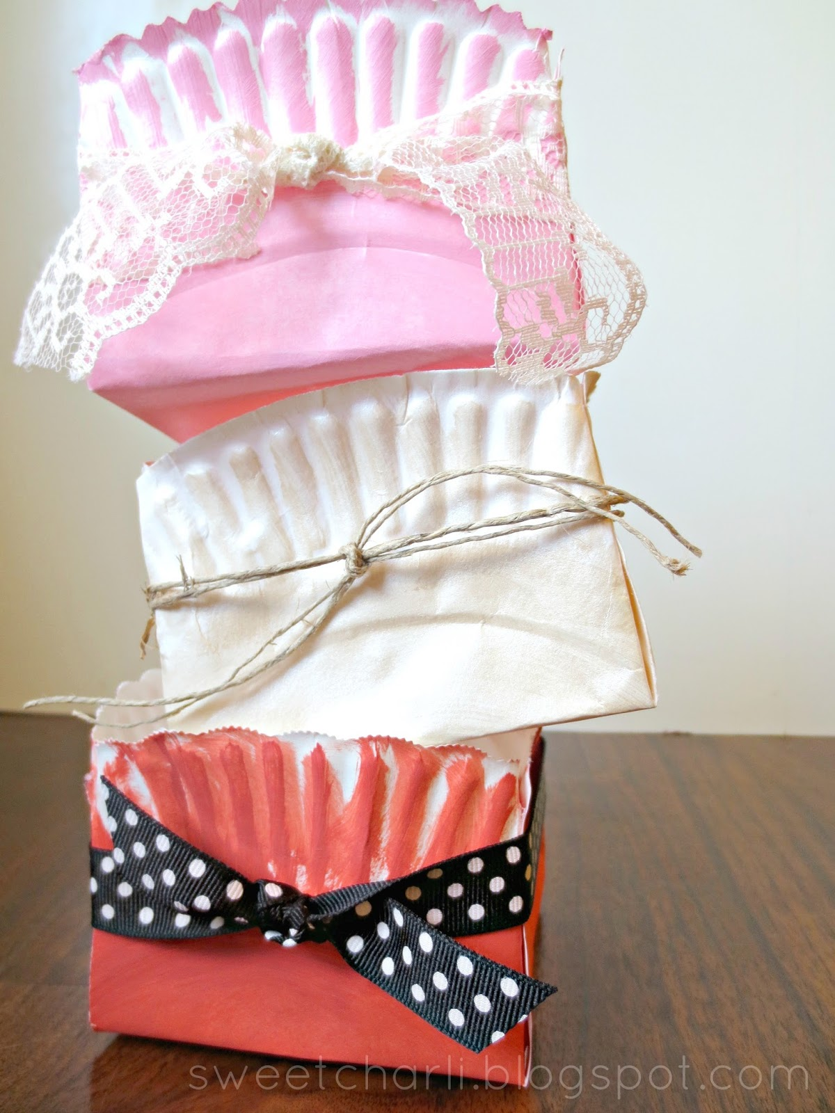 diy gift box using a paper plate