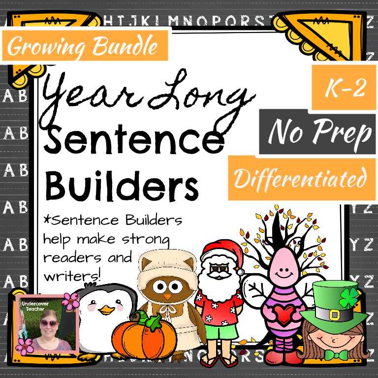 Year Long Sentence Builders K-2