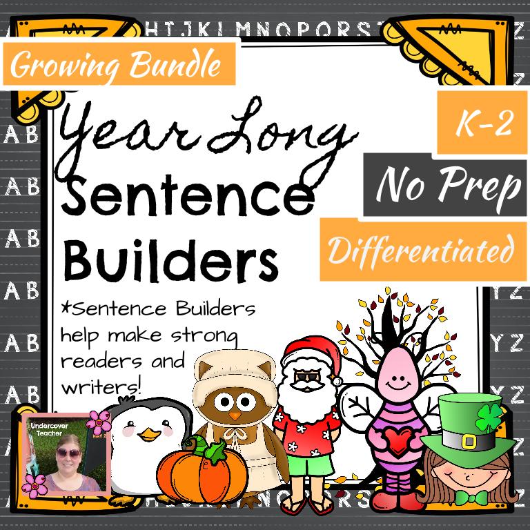 Year Long Sentence Builders K-2