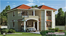 1962 Square Feet Home Exterior - Kerala Design And