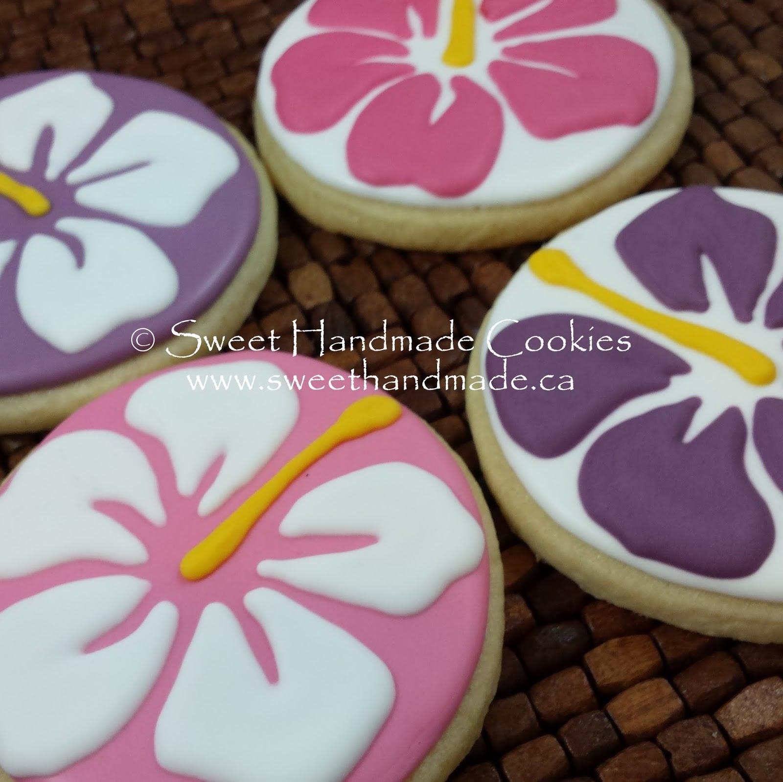 Sweet Handmade Cookies Hibiscus Flower Cookies