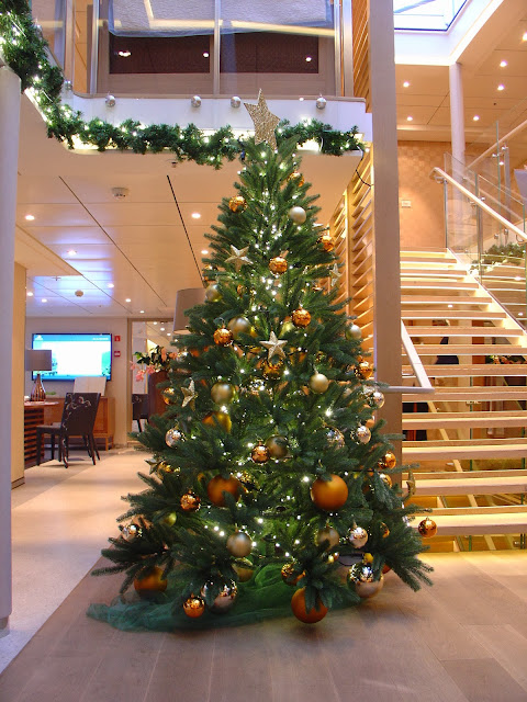 A very Merry Viking Christmas to all! Christmas tree in the Viking Skadi lobby.