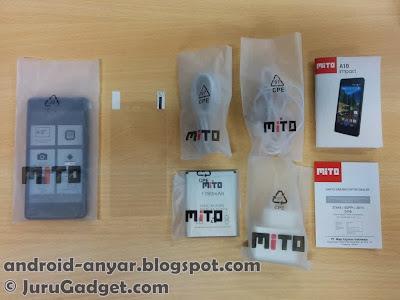 Tampak semua komponen dibungkus plastik bertuliskan MiTO