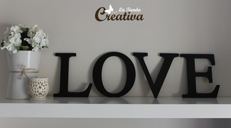La tienda creativa letras para decorar y mucho m s for Letras luminosas decoracion