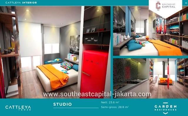 Interior Design Apartemen Tipe Studio Southeast Capital Jakarta