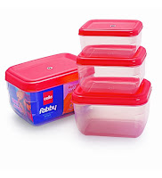Buy Cello Fabby Rectangular Container Set (4 pcs)  at Rs. 100 off & Extra 35% Cashback Through Mobikwik  at Rs 108 : Buy to Earn