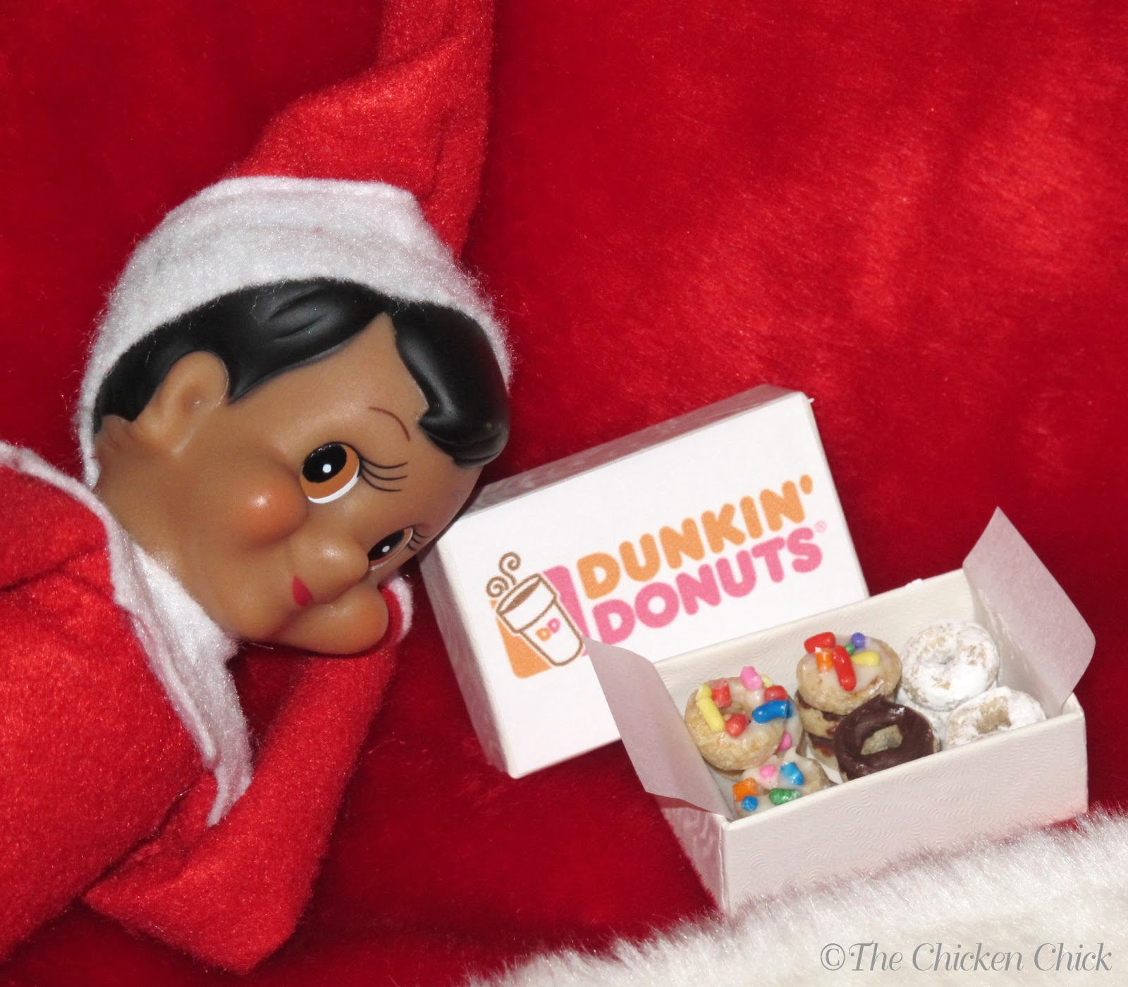 The Chicken Chick Elf on the Shelf Donuts