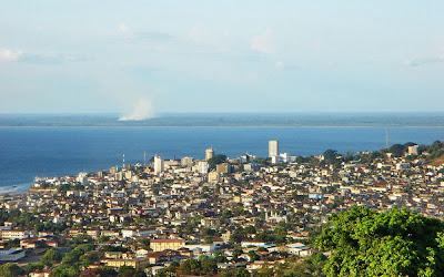 vista aérea de Freetown - Serra Leoa