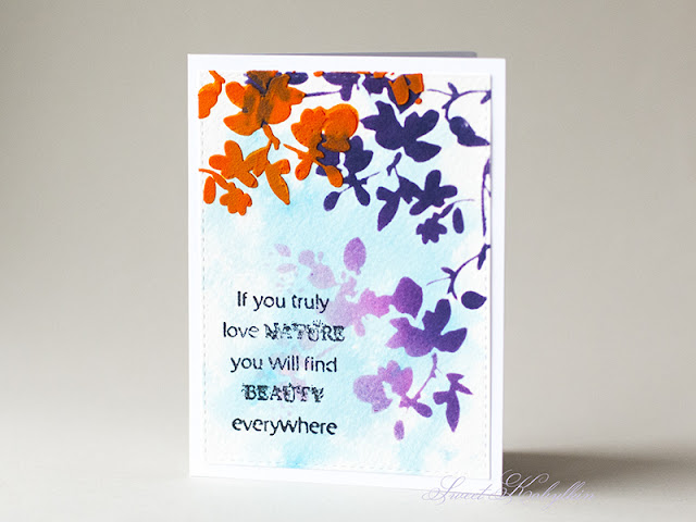 Greeting Card with Tim Holtz Blossom by Sweet Kobylkin pic 2