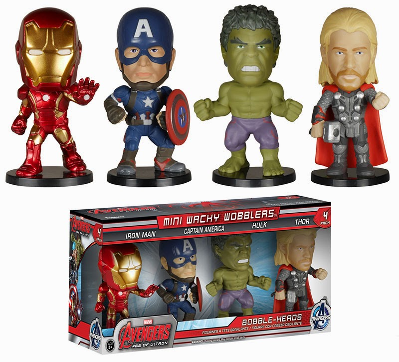 Marvel's The Avengers Age of Ultron Mini Wacky Wobblers Bobble Heads by Funko - Iron Man, Captain America, Hulk & Thor.jpg