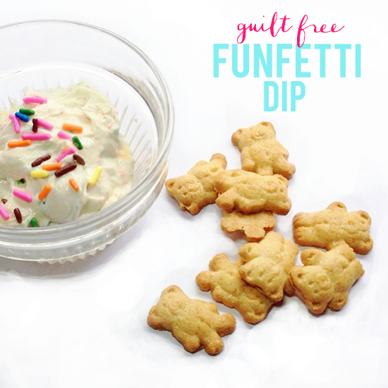 La Petite Fashionista: Guilt Free Funfetti Dip (because who doesn't love sprinkles!)