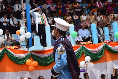 BJP Darjeeling MP SS Ahluwalia in Independence day kalimpong