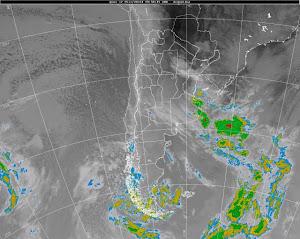 Estado del tiempo Argentina - Vista del satelite