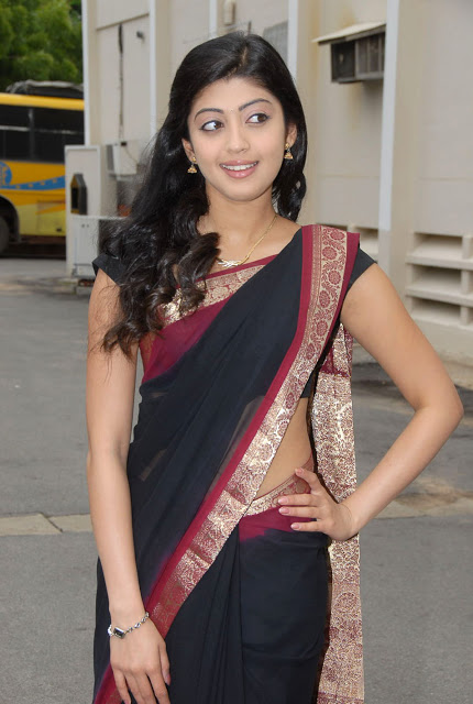 Pranitha In Cute Black Saree