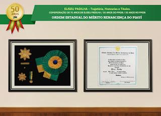 Trajetória, Honrarias e Títulos - Ordem Estadual do Mérito Renascença do Piauí