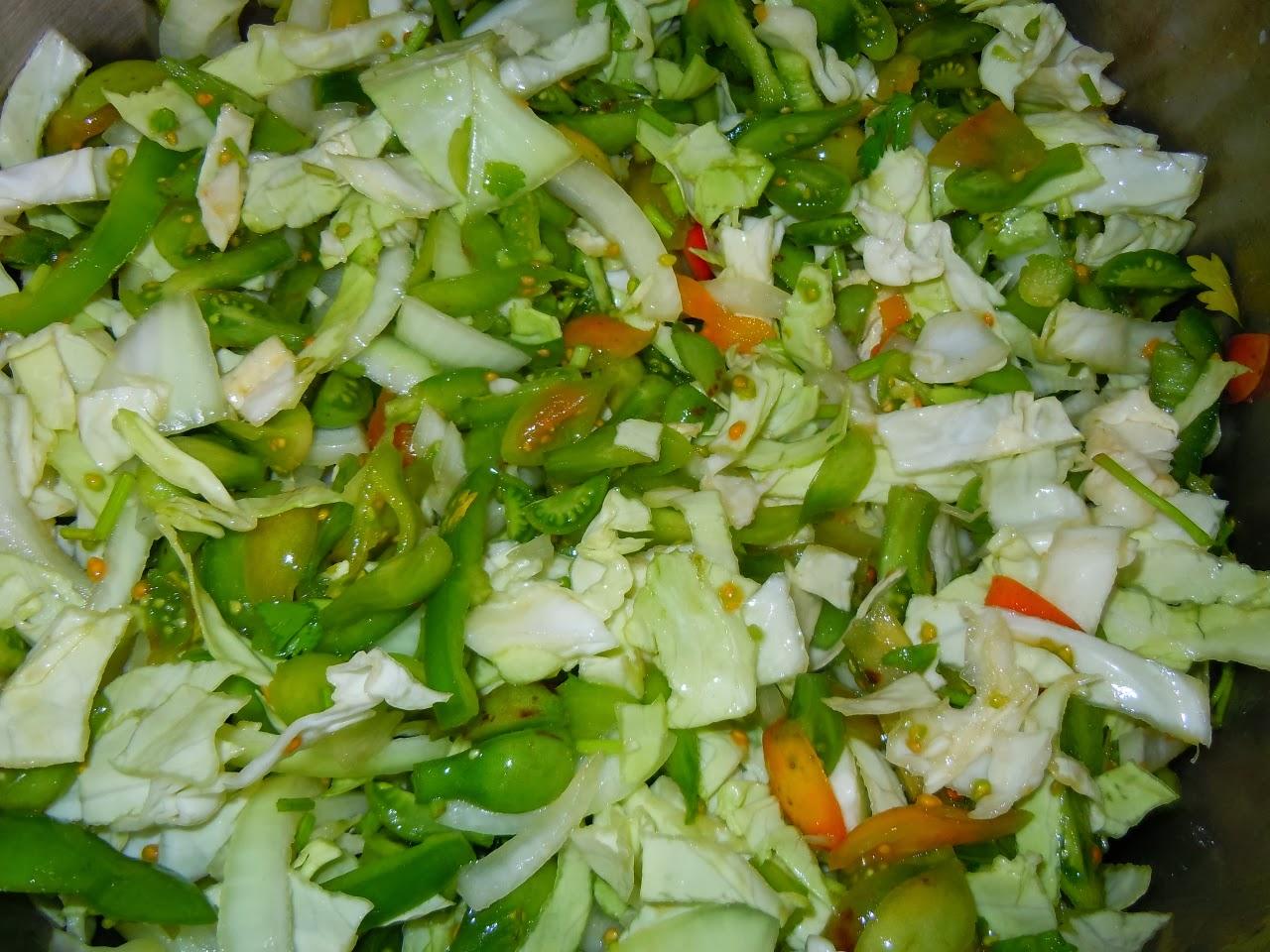 Рецепт салатов с зелёными помидорами