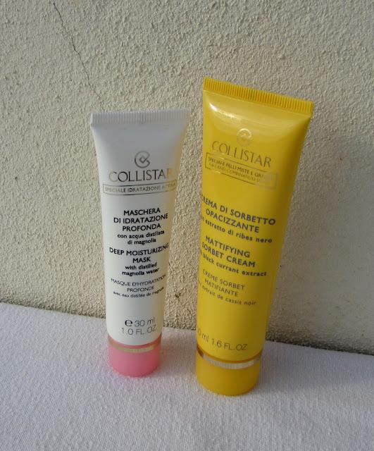 Увлажняющая маска Collistar Deep Moisturizing Mask и матирующий крем-сорбет Collistar Mattifying Sorbet Cream