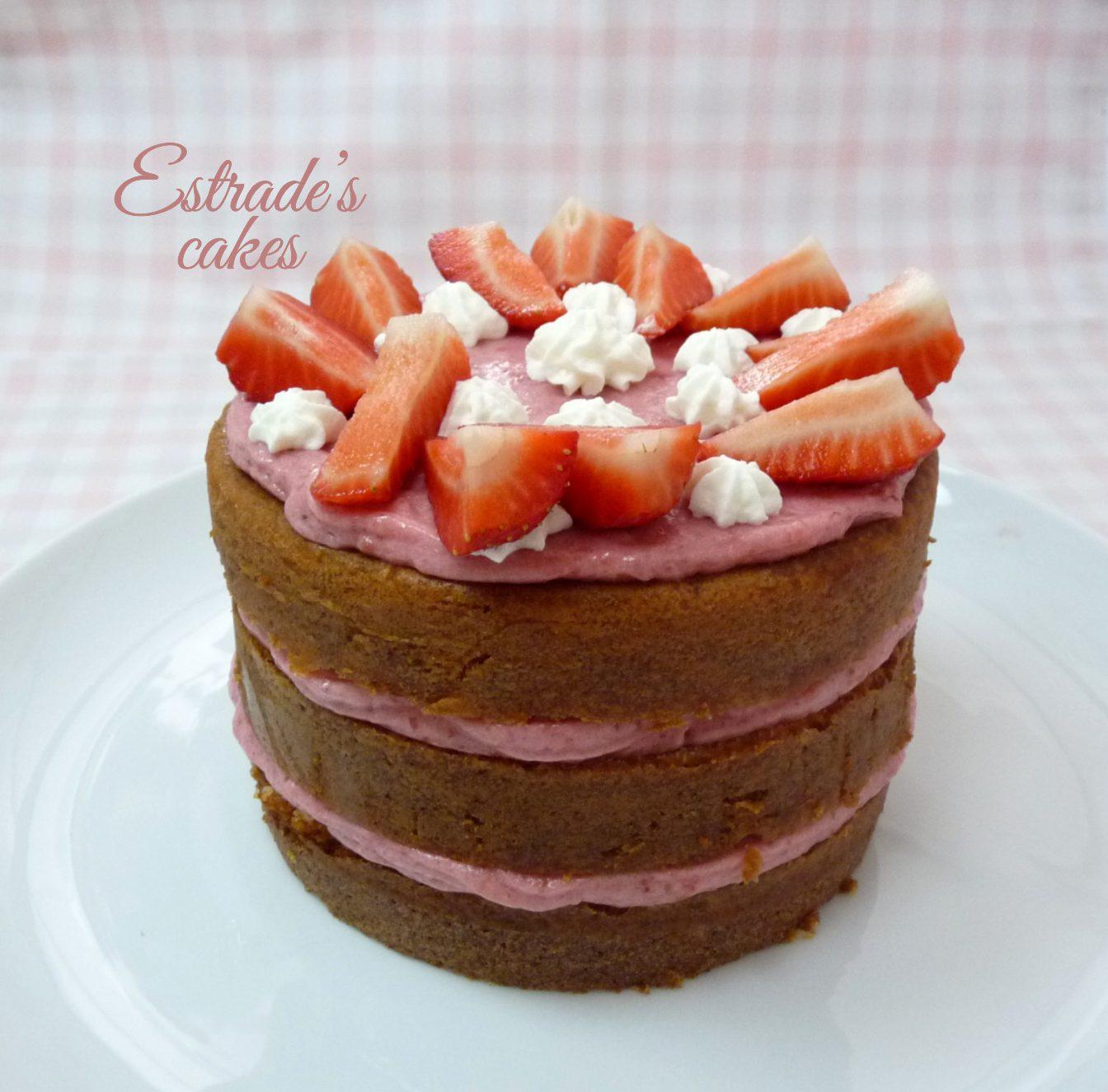 tarta con mousse de fresa - 5