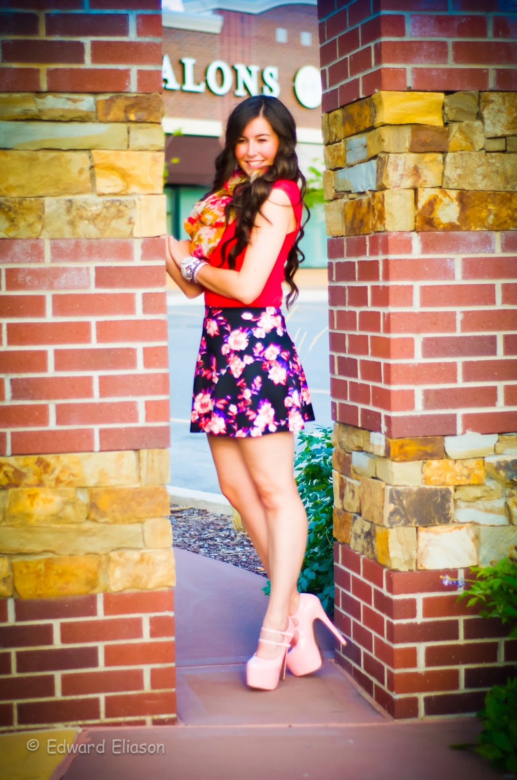 charlotte russe, charlotte russe skater skirts, floral scarf, floral scarves, outfits with skater skirts, pretty skirts, skater skirt, skater skirt outfits, ami club wear, ami clubwear, platform heels, tips, heels, shoes,