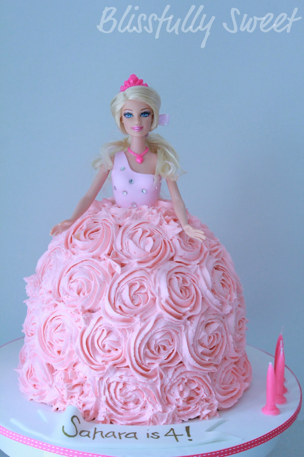 Images Of Barbie Birthday Cake : Blissfully Sweet: A Barbie Buttercream Birthday Cake