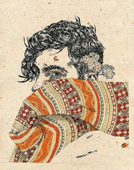 Ilustración y retratos hipster de Michael Howard