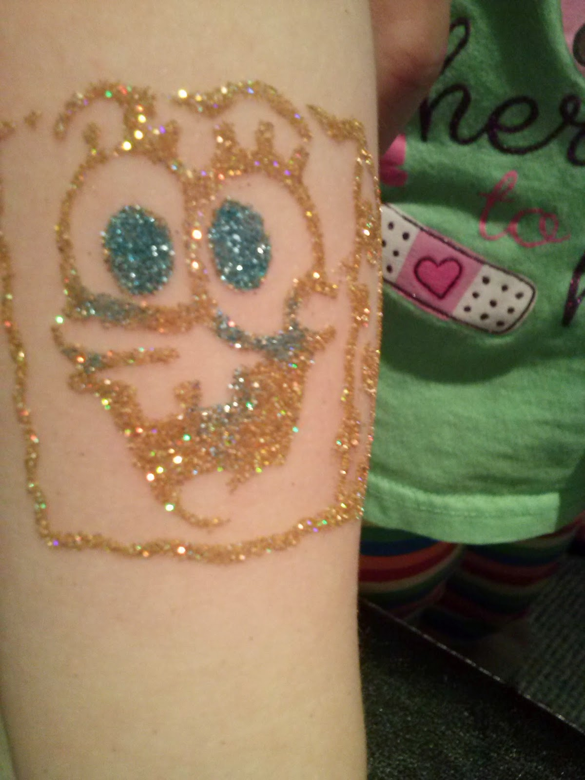 Spongebob Glitter Tattoo