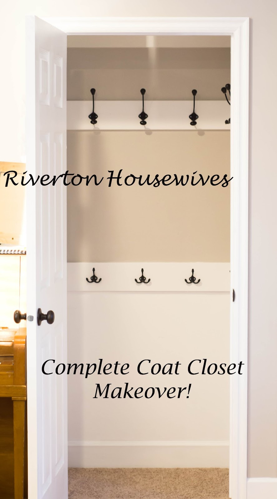 Coat Closet Makeover A Tutorial