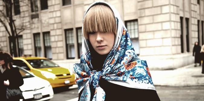 Street style: pañuelo en la cabeza