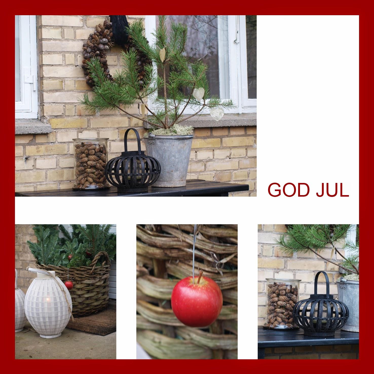 Have med naturligt julepynt giver julestemning udendørs