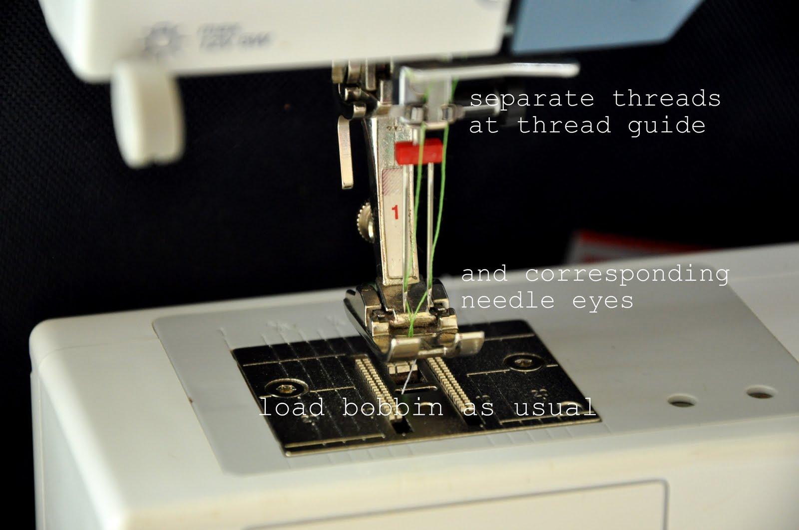 how to get bobbin thread up through machine