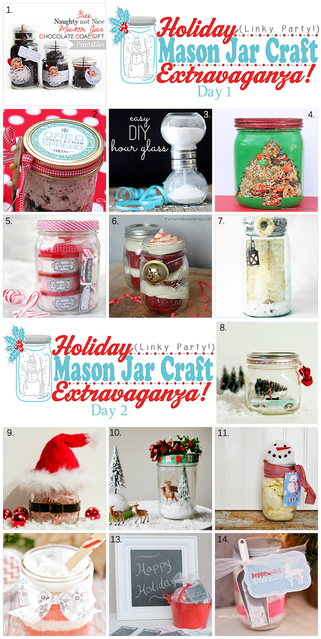 Link up your holiday mason jar creations the country Country christmas gifts to make