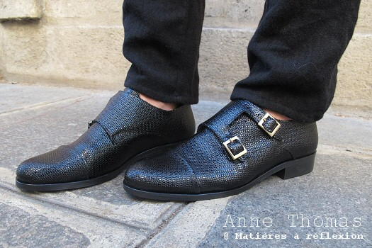Derbies Anne Thomas cuir noir shiny